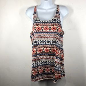 Maurices southwestern print tank size large